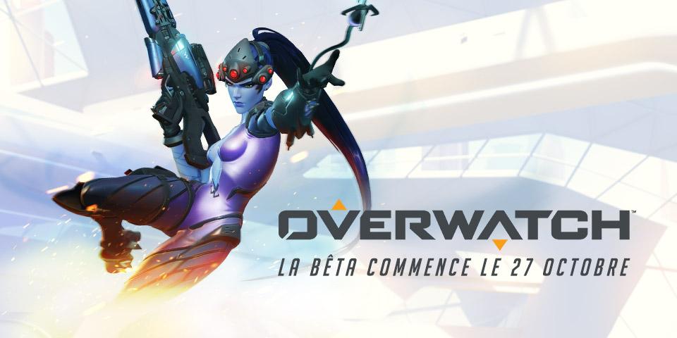 La bêta d'Overwatch débute le mardi 27 octobre