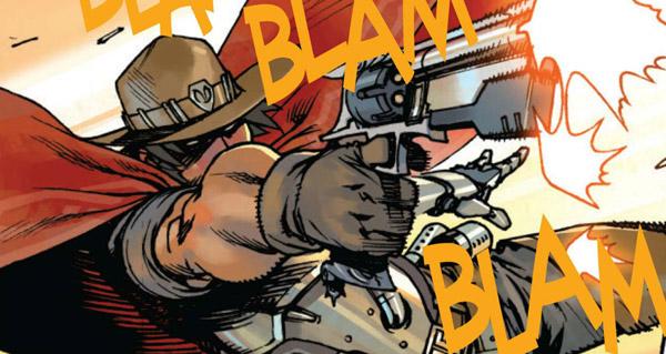 diffusion de la premiere planche du comic overwatch mccree