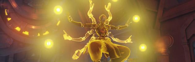Le moine peut entrer en transe et rendre des points de vie à ses alliés