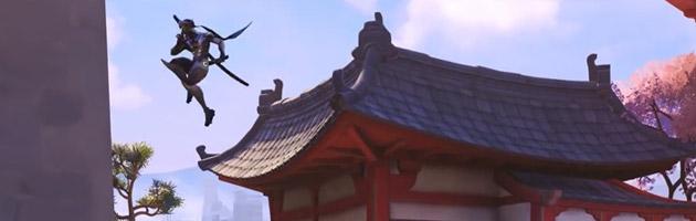 Les doubles sauts de Genji sont très pratiques pour se déplacer de toits en toits