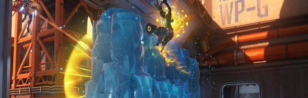 Mei génère un mur de glace pour bloquer les tirs ennemis ou servir de passerelle temporaire