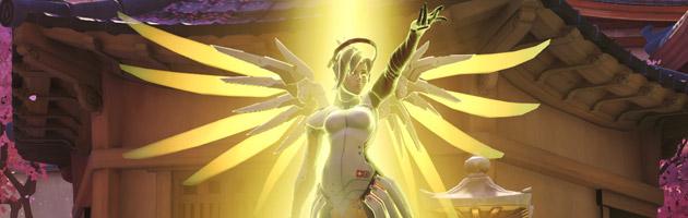 Ange peut voler auprès des joueurs de son équipe et ressusciter les joueurs alliés