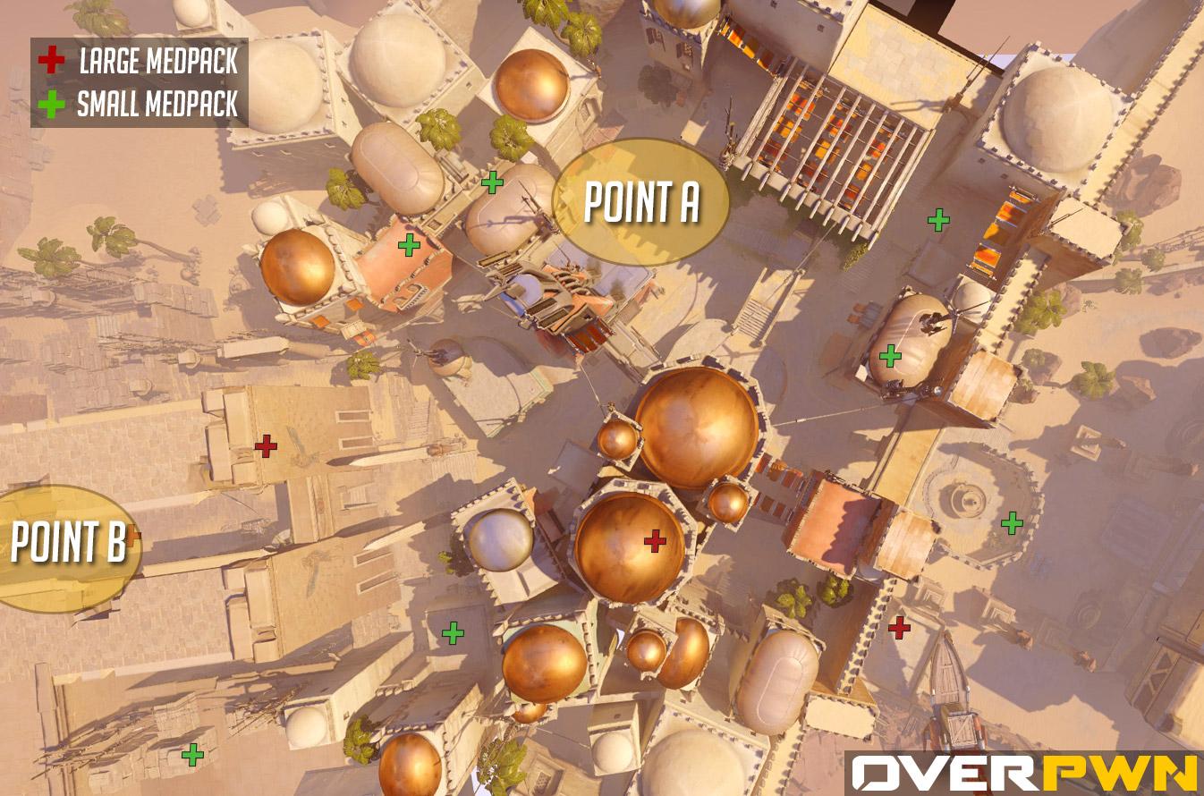 La carte Temple d'Anubis dans Overwatch