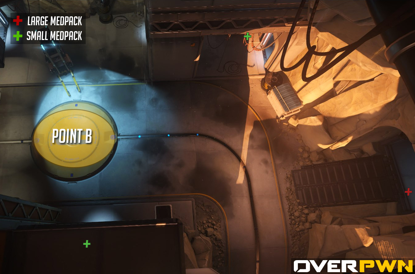 La carte du point B sur Gibraltar dans Overwatch