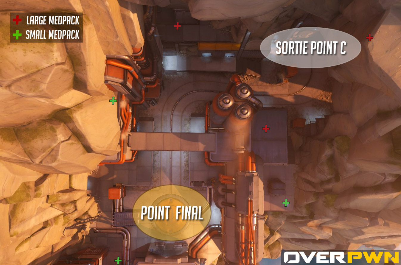 La carte du point final sur Gibraltar dans Overwatch
