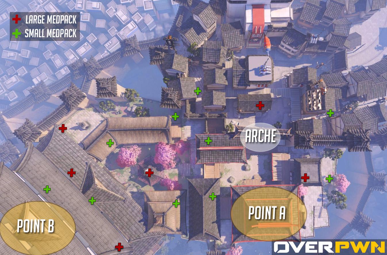 La carte de Hanamura dans Overwatch