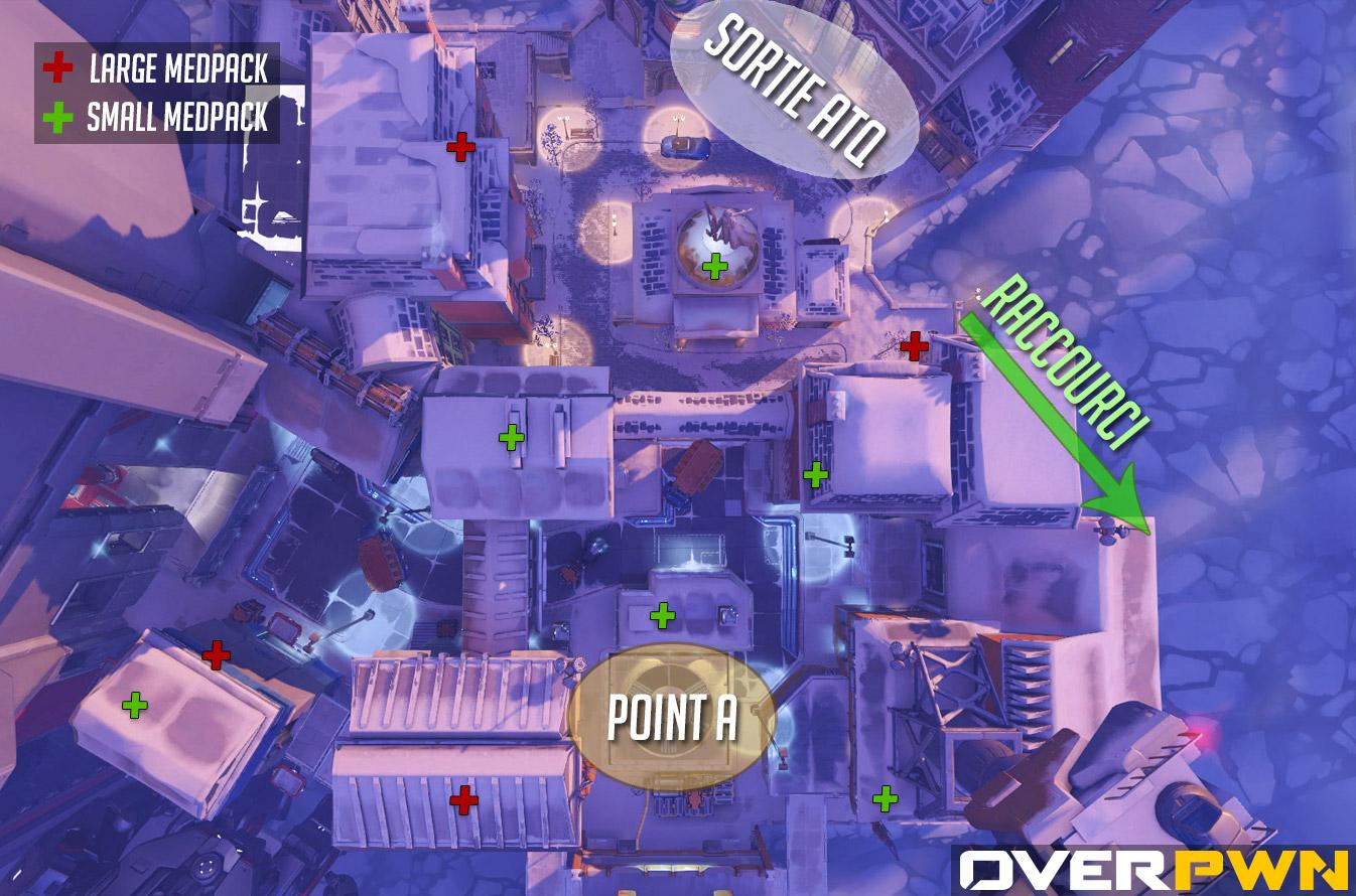 La carte de l'Usine Volskaya dans Overwatch