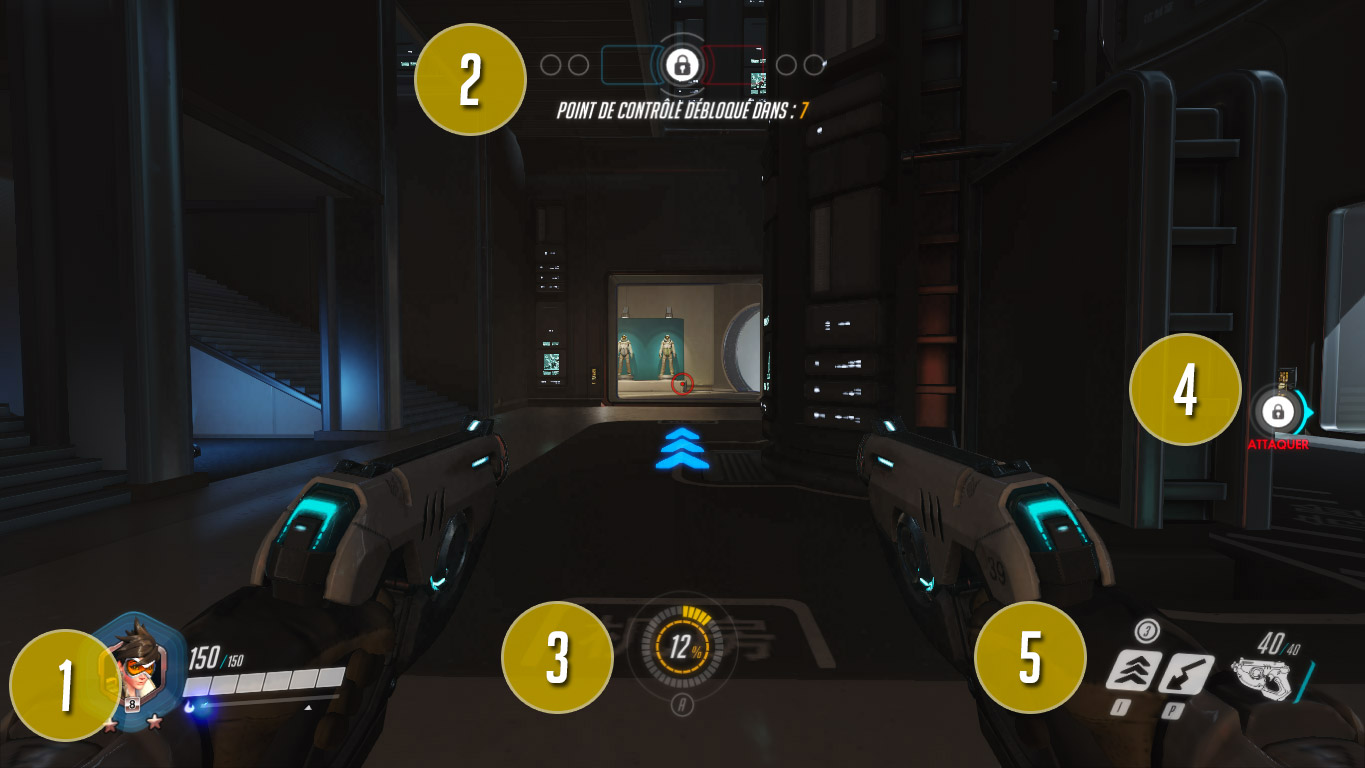 L'interface en jeu d'Overwatch