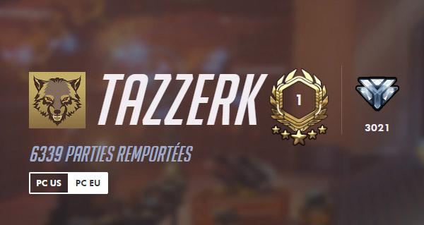 le joueur tazzerk atteint le niveau 1801 dans overwatch