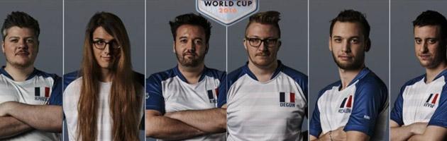 Equipe de France avec AlphaCast, Kitty, Knoxxx, Degun, Mickalow et Kryw