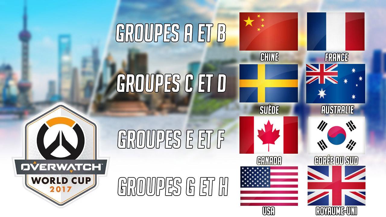 8 pays sont désormais qualifiés pour les phases finales à la Blizzcon