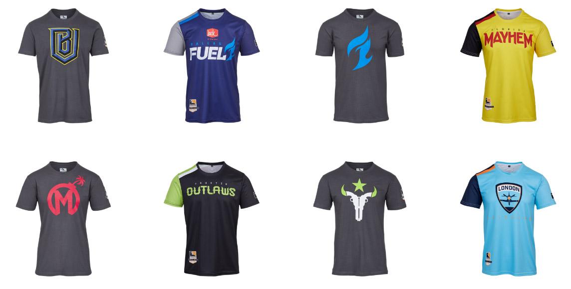 La boutique en ligne de Blizzard propose les maillots des équipes de l'Overwatch League