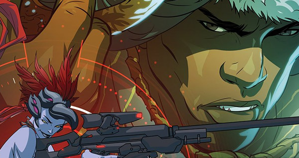 comic overwatch : bas les masques