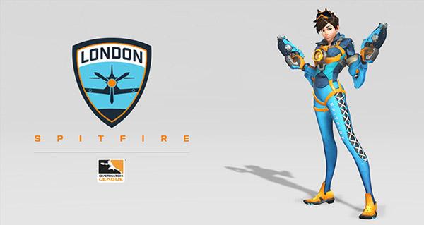 overwatch league : skin tracer et logo des london spitfire