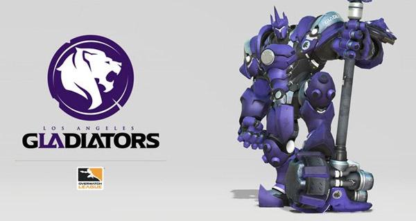 overwatch league : la derniere equipe los angeles gladiators presente son logo
