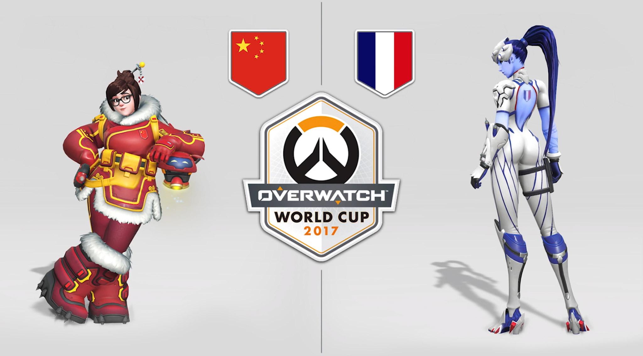 Skins des héros pour la Chine et la France lors de l'Overwatch World Cup 2017