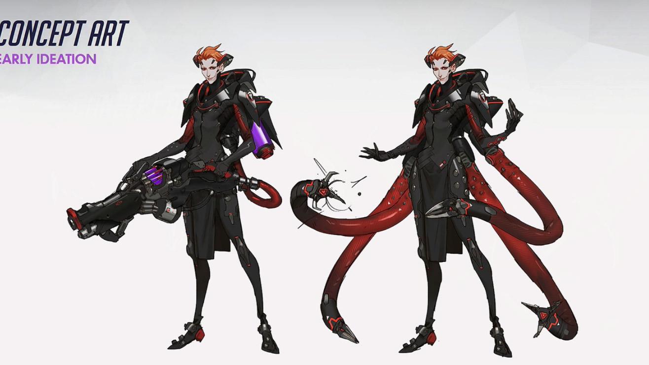 Les premiers concepts de Moira avec tentacules