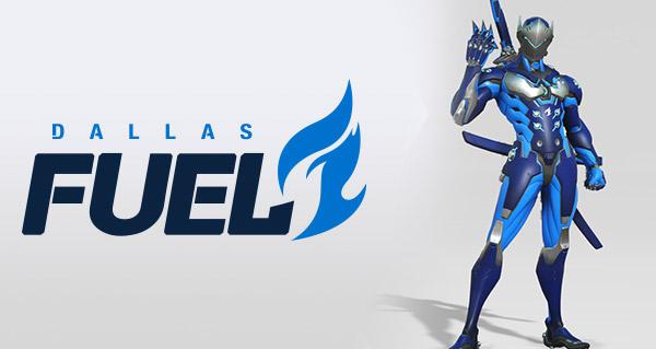 overwatch league : l'equipe dallas fuel presente son logo et un skin de genji