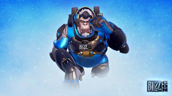 Le skin Winston Blizzcon 2017 est un bonus en achetant le billet virtuel