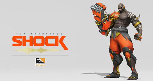 overwatch league : shock presente son logo et un skin de doomfist