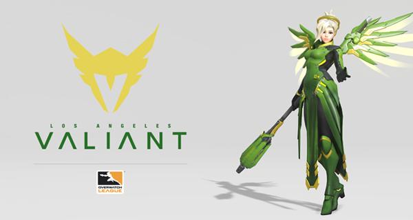 overwatch league : l'equipe valiant presente son logo et un skin pour ange