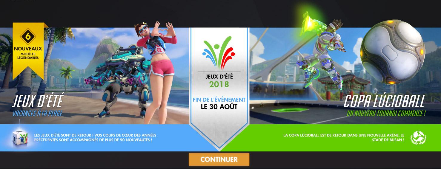 Des nouveautés pour les Jeux d'été édition 2018