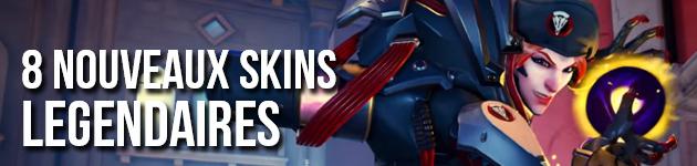 8 nouveaux skins légendaires des Archives d'Overwatch
