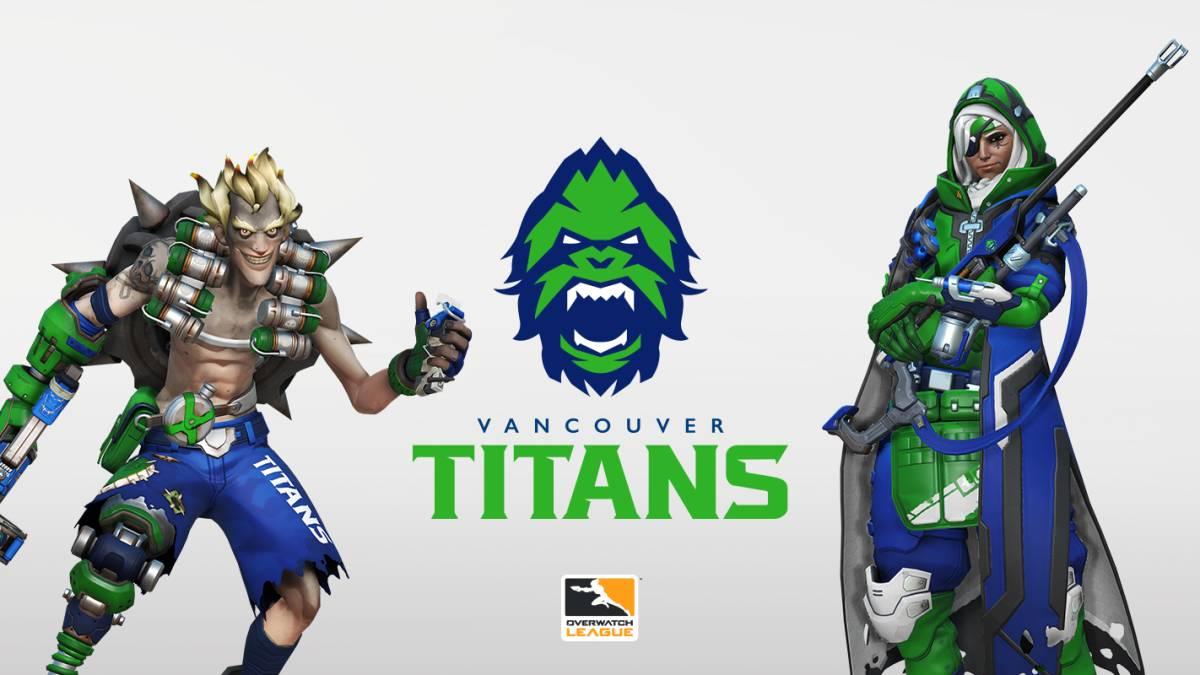 Logo et couleurs du skin des Vancouver Titans
