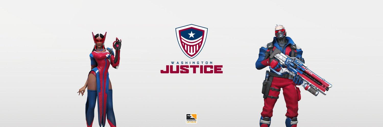 Logo, nom et couleurs de l'équipe Washington Justice