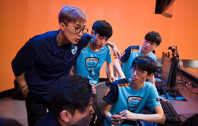 Overwatch League : l'équipe London Spitfire (Royaume-Uni) Crédit photo : Robert Paul