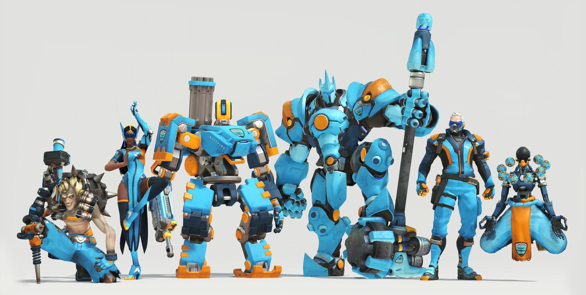 Skin de l'équipe London Spitfire pour l'Overwatch League (Royaume-Uni)