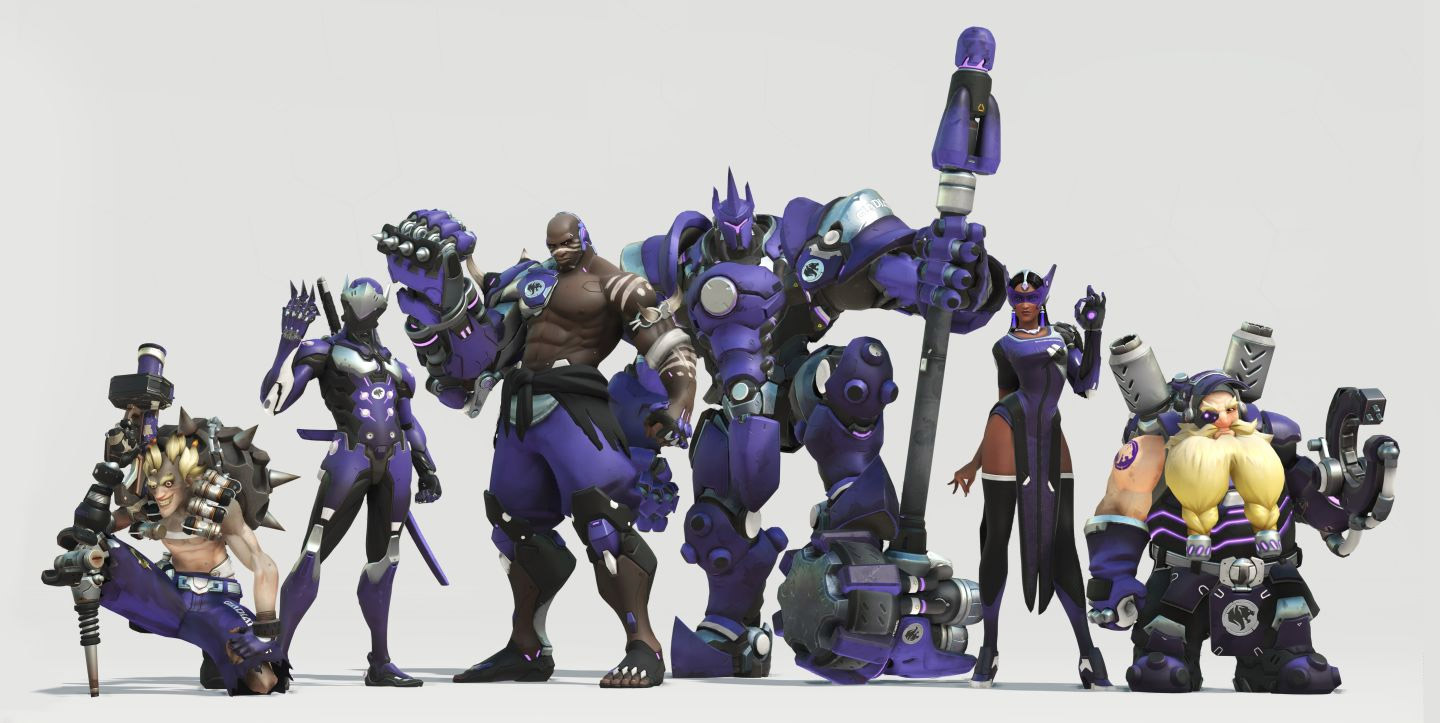 Skin de l'équipe Los Angeles Gladiators pour l'Overwatch League (Etats-Unis)