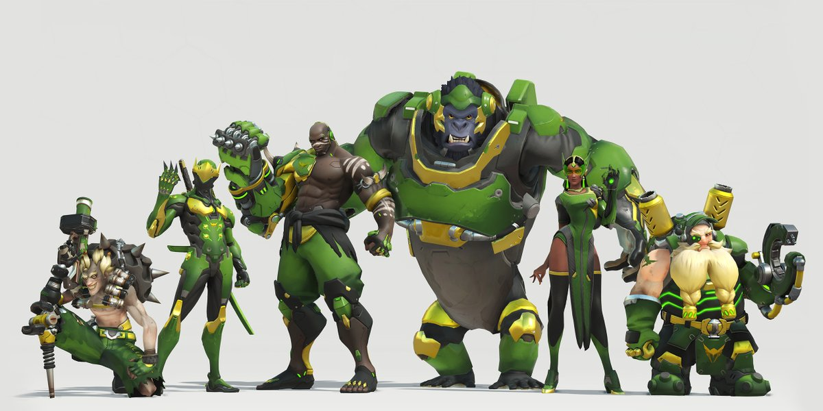 Skin de l'équipe Los Angeles Valiant pour l'Overwatch League (Etats-Unis)