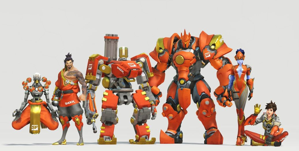 Skin de l'équipe San Francisco Shock pour l'Overwatch League (Etats-Unis)