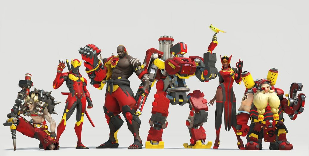 Skin de l'équipe Shanghai Dragons pour l'Overwatch League