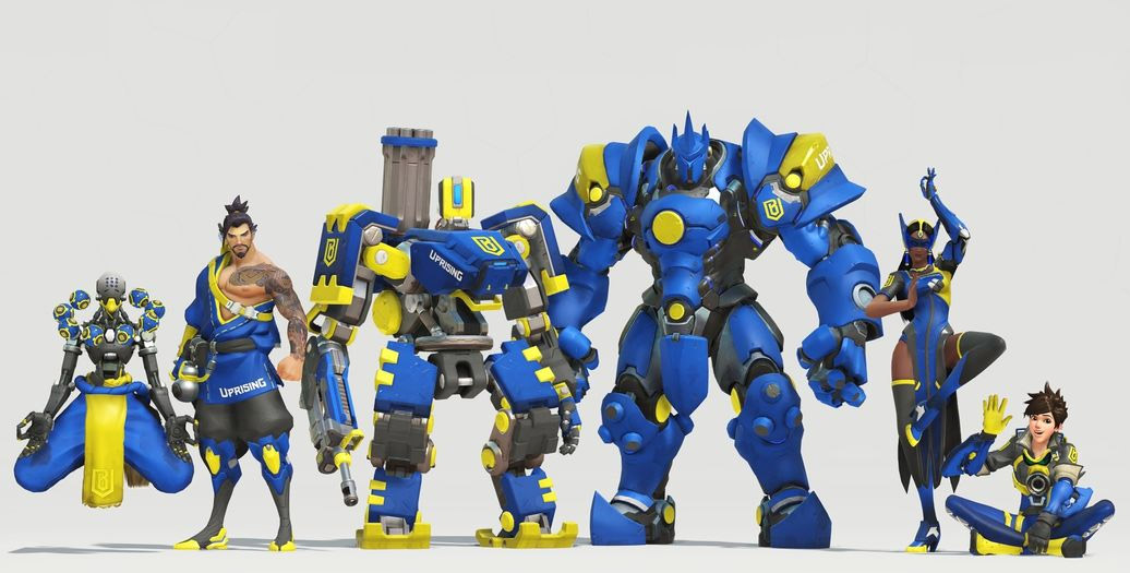 Skin de l'équipe Boston Uprising pour l'Overwatch League