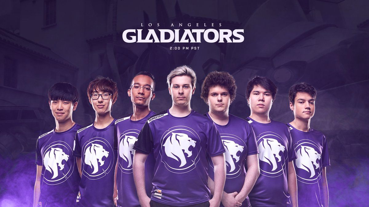 Overwatch League : l'équipe Los Angeles Gladiators (États-Unis)