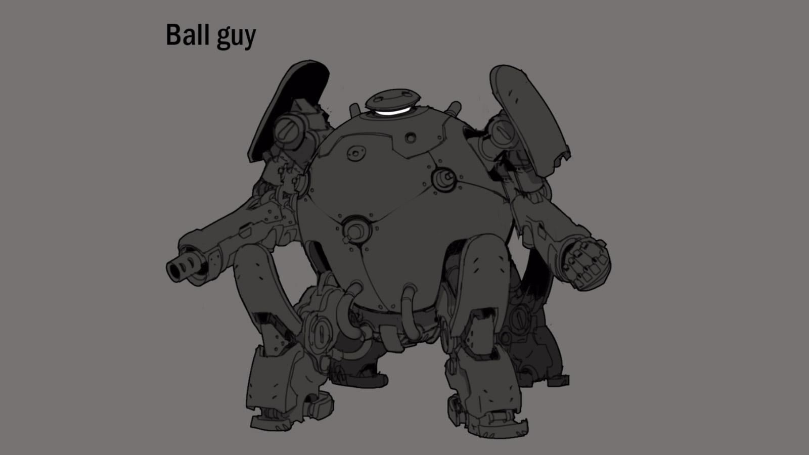 Concept de Bad Guy pendant le développement
