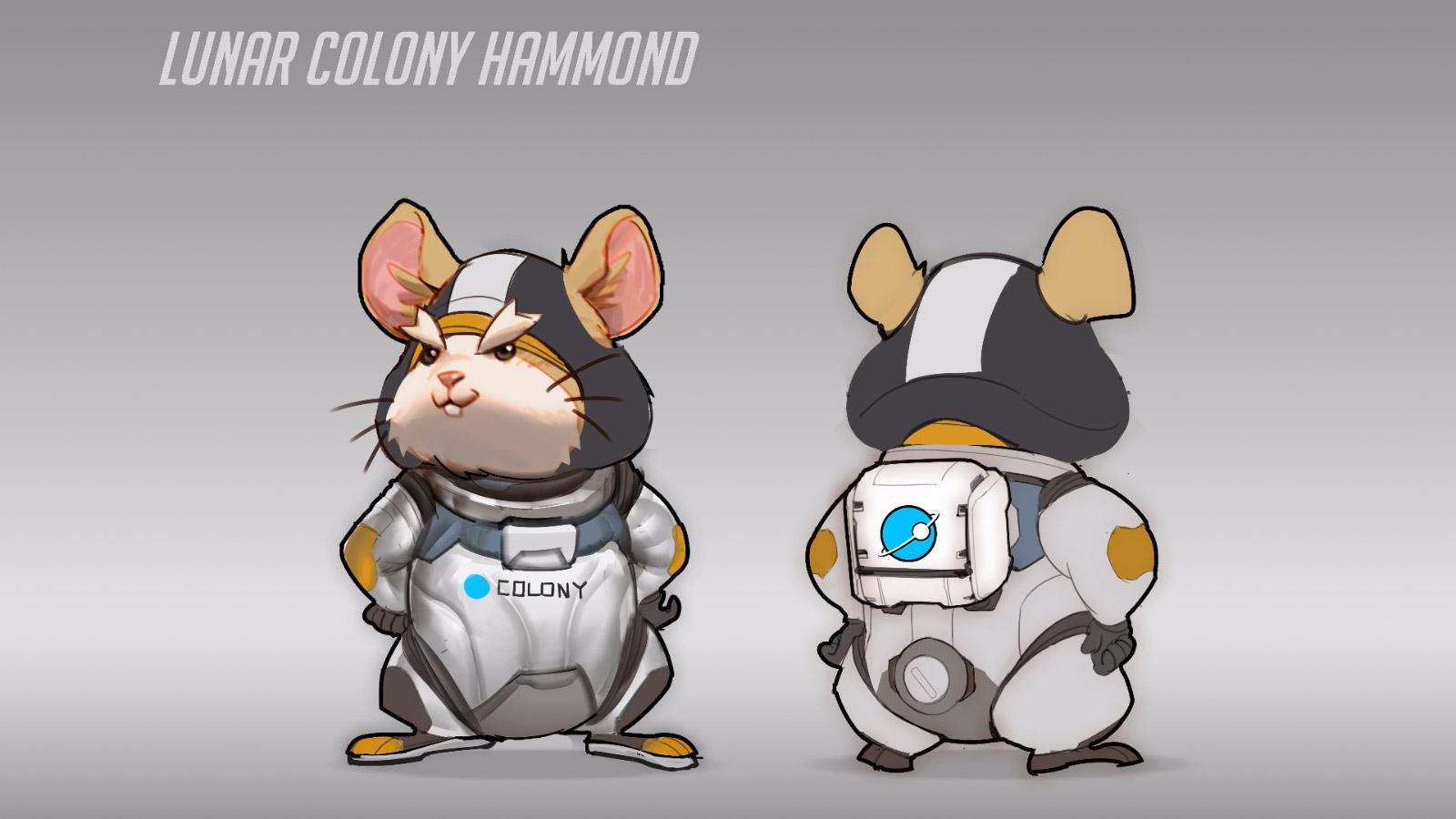 Hammond dans sa tenue de la Colonie lunaire Horizon