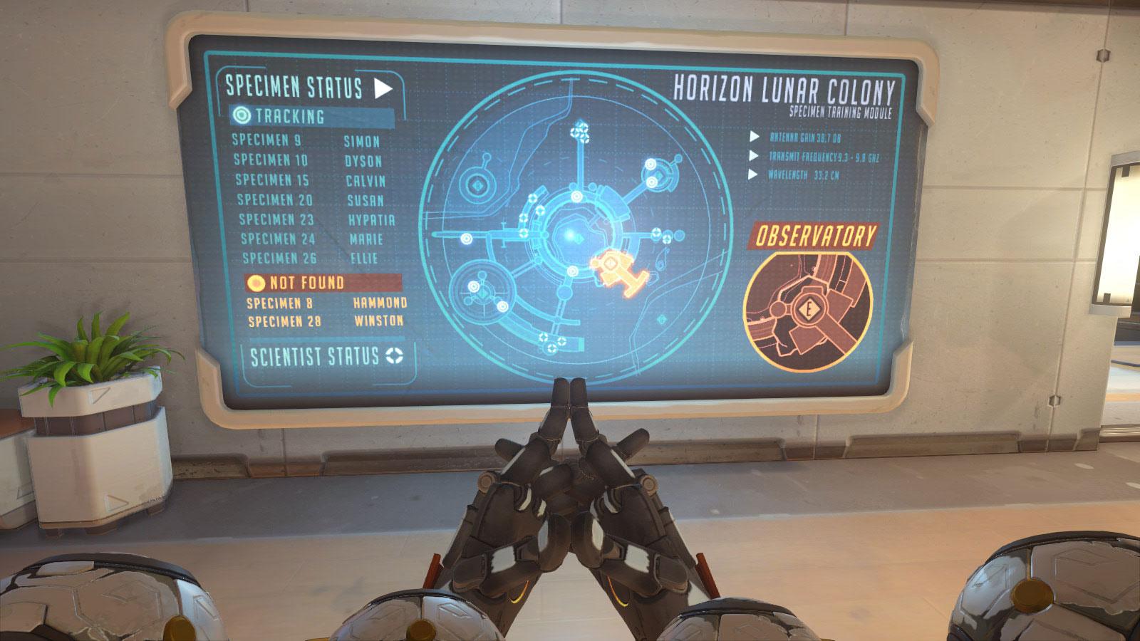 Le spécimen 8 correspond à Hammond comme le montre se tableau présent depuis longtemps sur la map