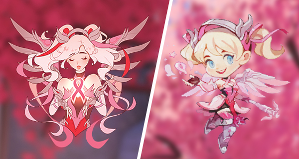 overwatch & bcrf : skin rose pour ange, tags et emoticones pour twitch