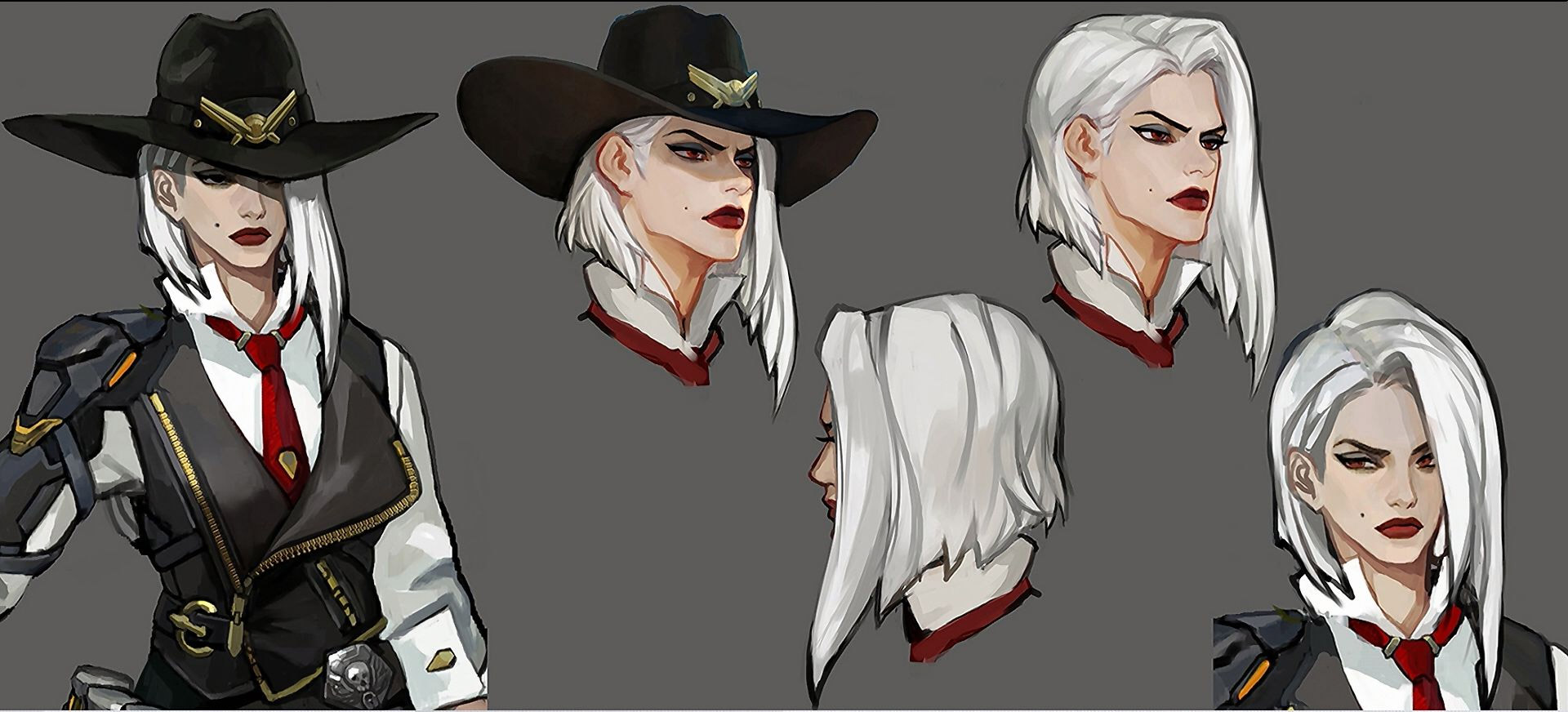 Finalisation du personnage Ashe d'Overwatch