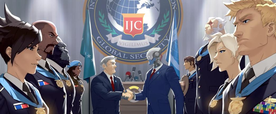 L'équipe d'Overwatch lors d'une cérémonie organisée par l'International Justice Commission