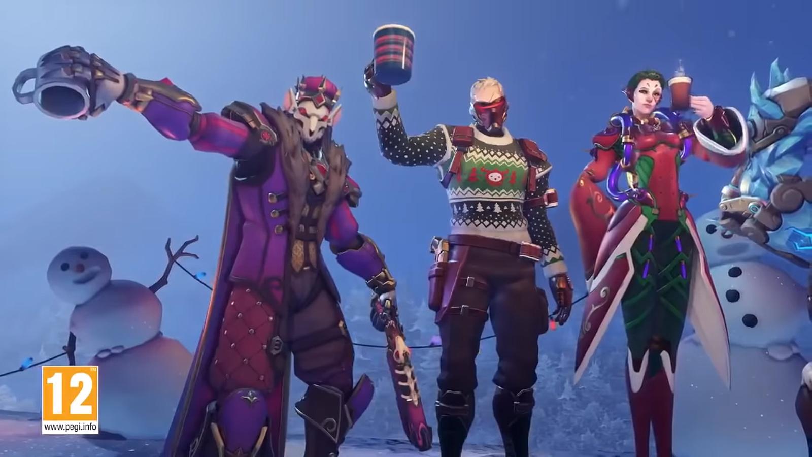 Féerie hivernale : Skins Overwatch