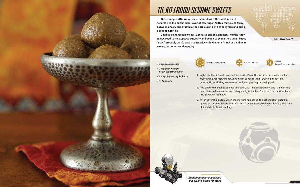 Livre de cuisine Overwatch : Til ko Laddu sesame sweets du Népal