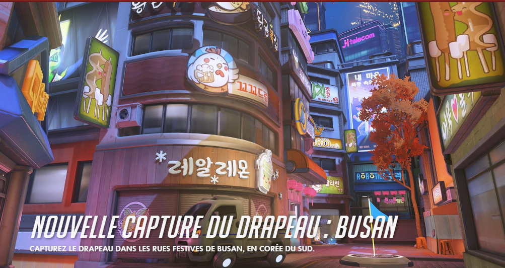 Le mode capture du drapeau sur la map Busan