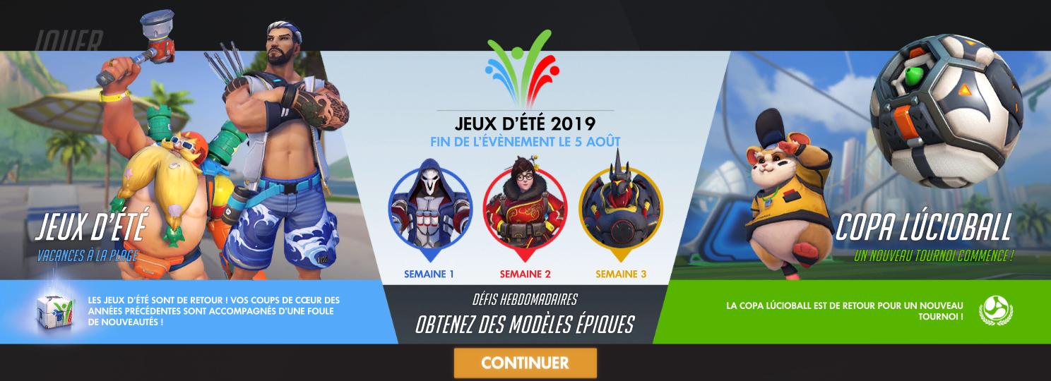 Des nouveautés pour les Jeux d'été édition 2019