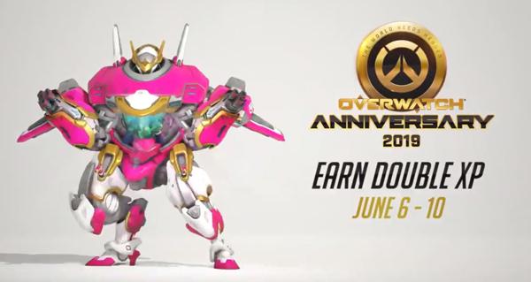anniversaire overwatch : double xp jusqu'au 10 juin !