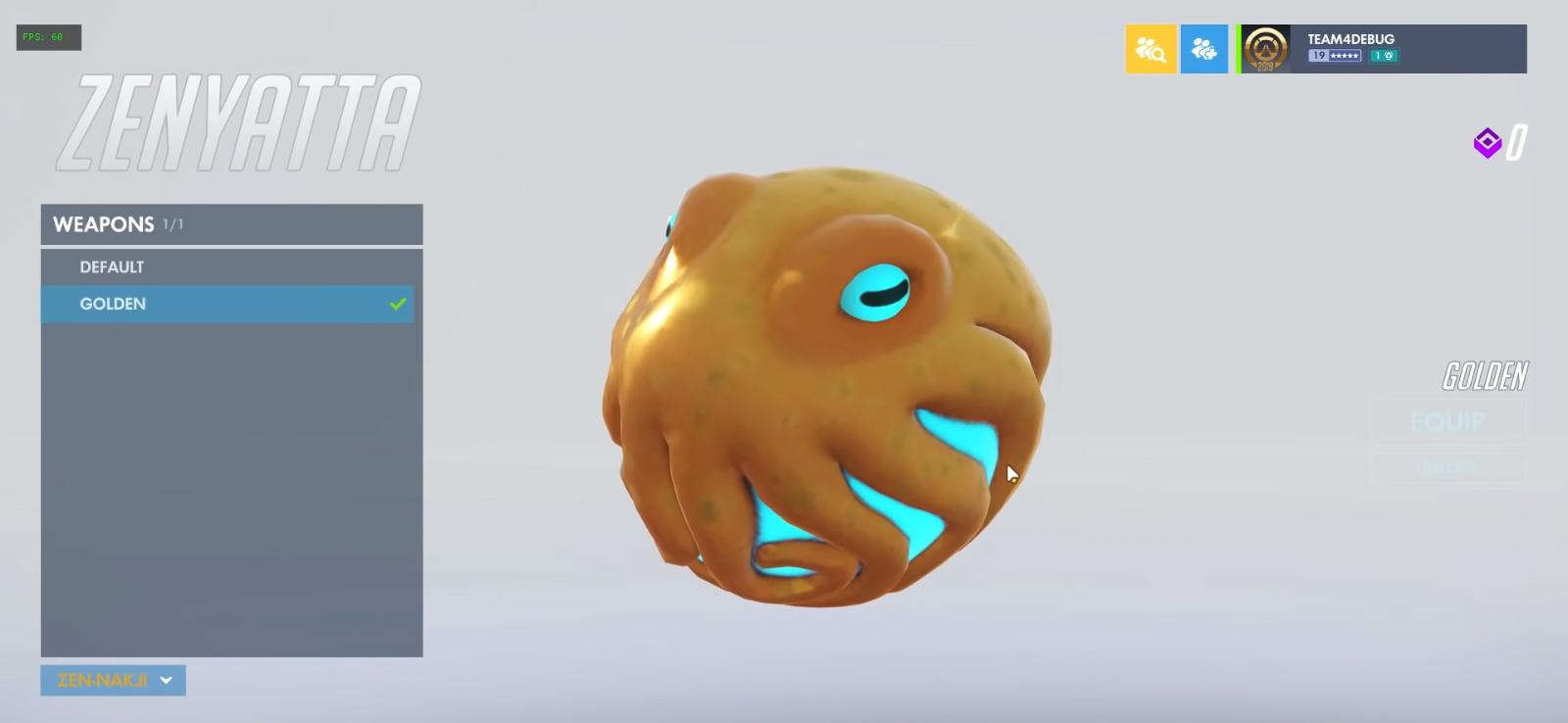 Orbe version dorée Skin légendaire MVP JJoNak
