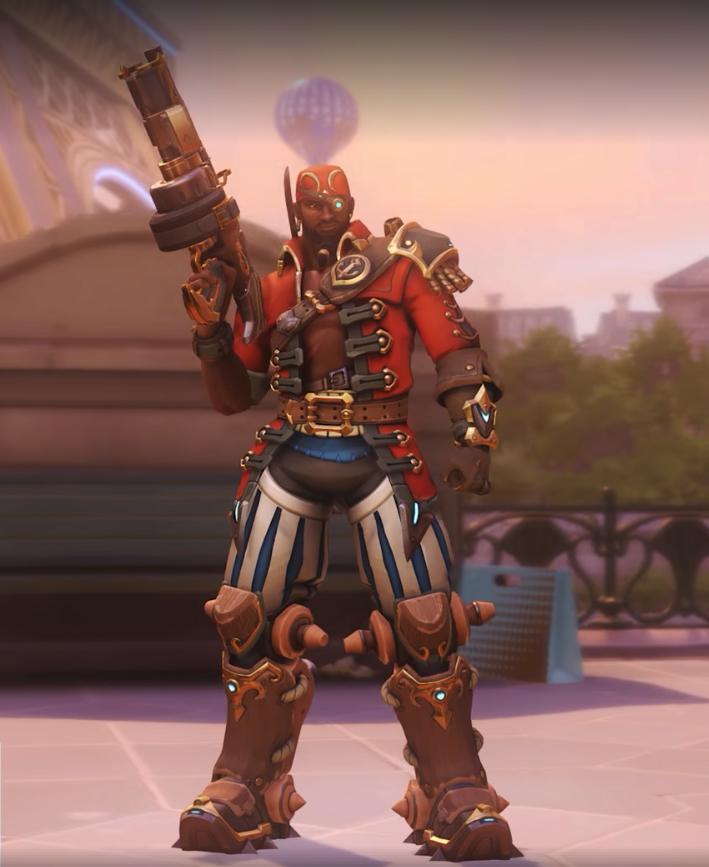 Baptiste héros d'Overwatch - Skin légendaire Boucanier